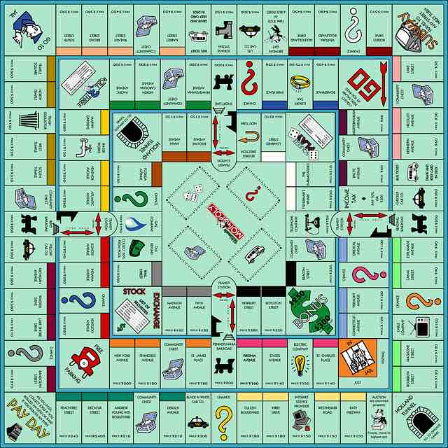 Le monopoly des jeux traditionnels de de société